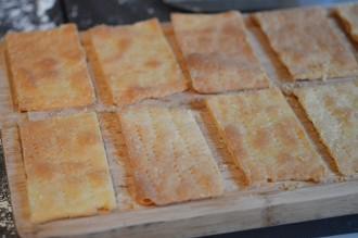 coupez des rectangles de pâte