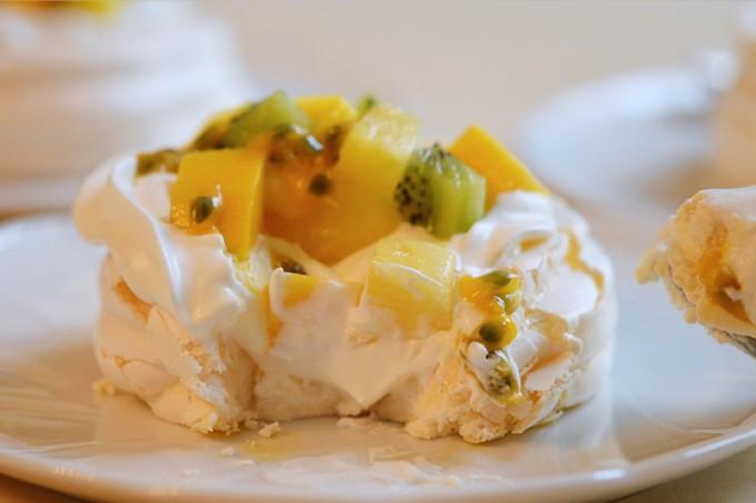 pavlova fruits exotiques sans gluten