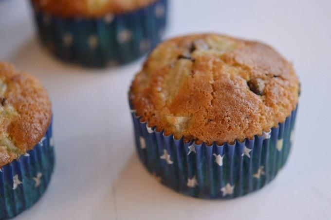 muffins sans gluten poire chocolat