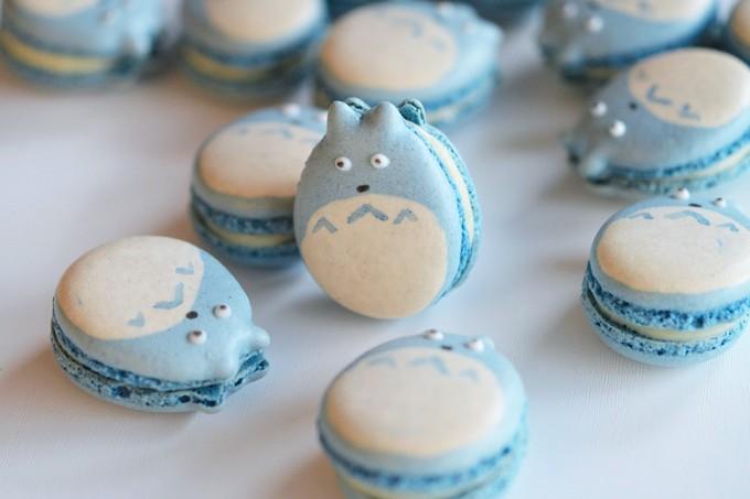 macarons totoro bleu