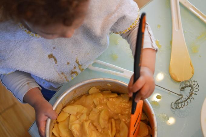 gateau invisible aux pommes sans gluten