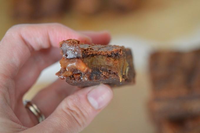 brownies caramel chocolat sans gluten