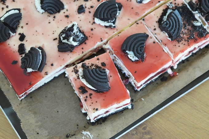 cheesecake sans gluten cerises oreos