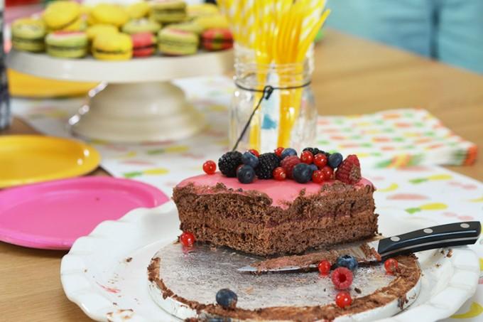 drip cake anniversaire fruits sans gluten