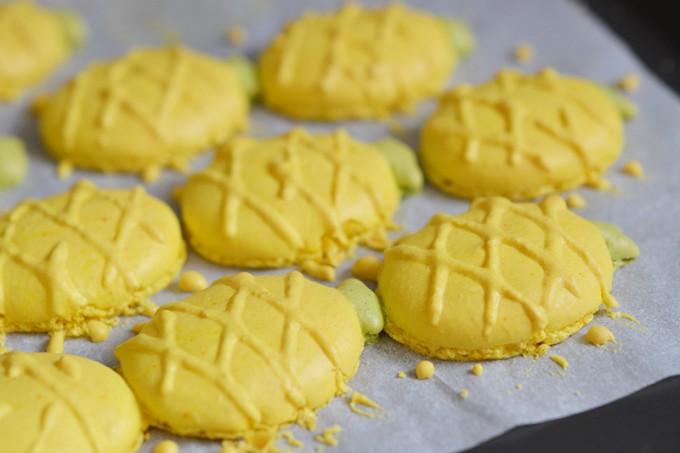 macarons ananas