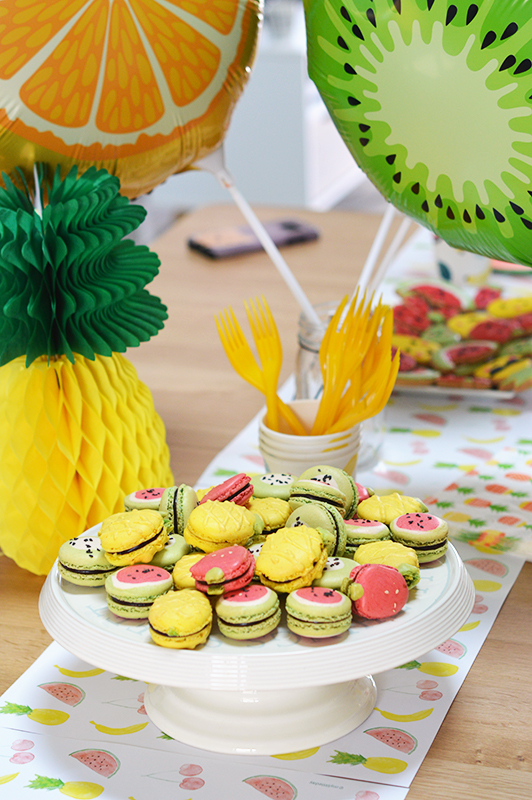 macarons anniversaire birtday party fruits tutty-frutty