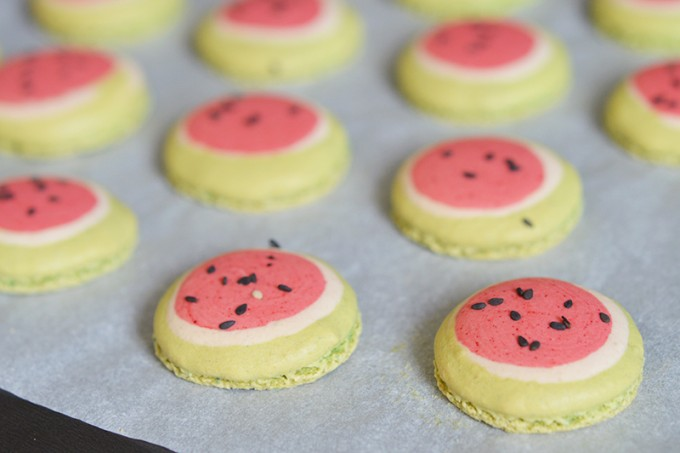 macarons pasteques