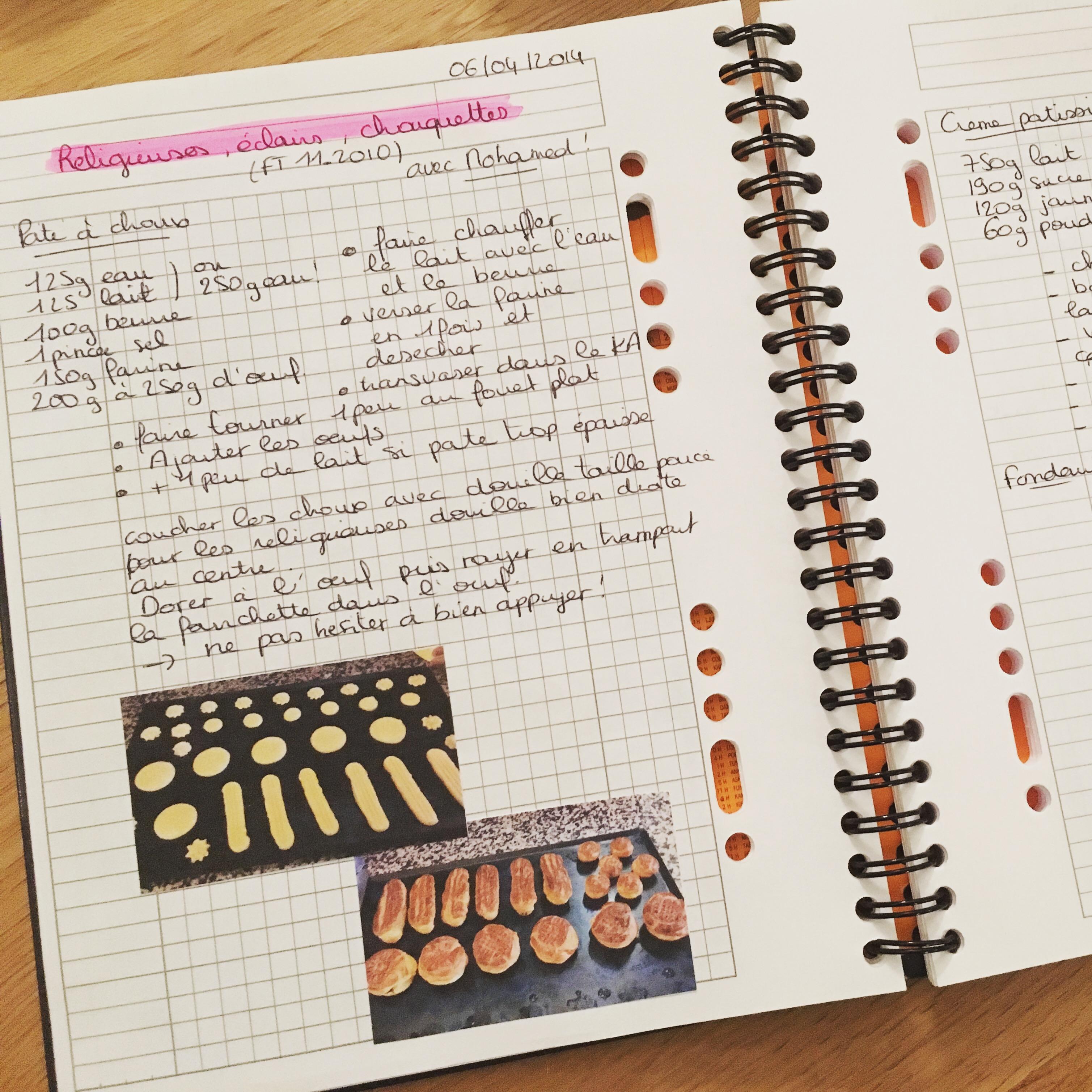 Mon cahier de suivi de mes entrainements pratique