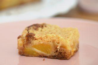 crumbcake sans gluten pommes peches