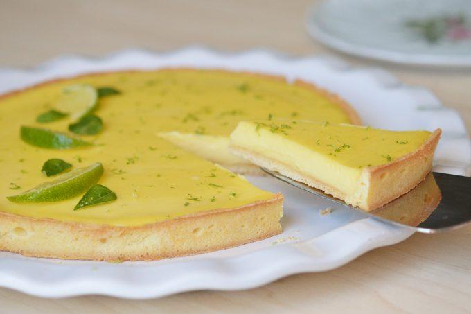 tarte citron vert basilic
