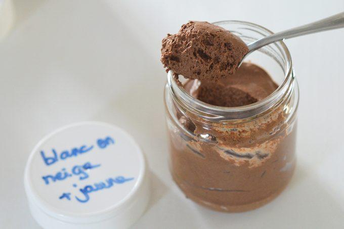 mousse au chocolat blanc d'oeuf