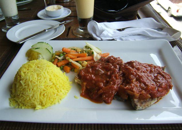 poisson et riz à la seychelloise