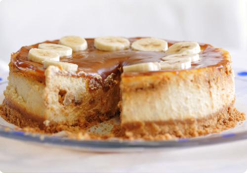 cheesecake bananes caramel sans gluten. Black Bedroom Furniture Sets. Home Design Ideas