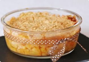 Crumble sans gluten aux pommes
