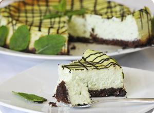 Cheesecake menthe chocolat