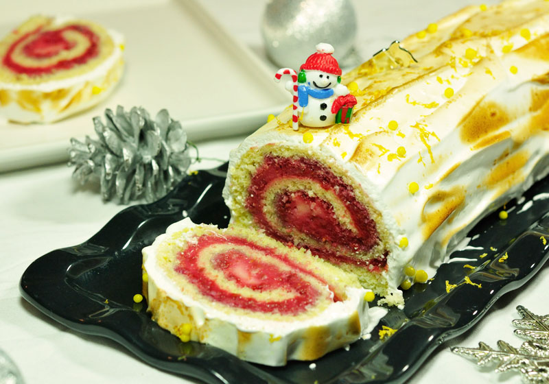 Buche de noel aux fruits vegan