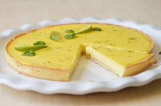tarte citron vert basilic sans gluten